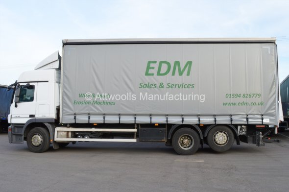 Lorry Curtains With Standard Graphics