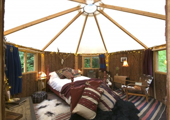 Glamping Cabin Canvas Roof
