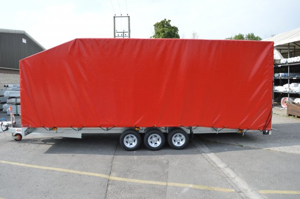 Red PVC Trailer Cover