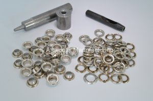 11.94mm ID Nickel Plated Brass Eyelet Kit (Industrial Quality)