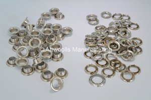 14.73mm ID Nickel Plated Brass Eyelets Refill Pack of 50 (Industrial Quality)