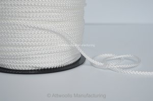 4mm DIA Polypropylene Braided Cord. White