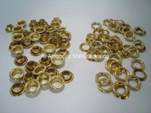 8.38mm ID Brass Eyelets Refill Pack of 50 (Industrial Quality)