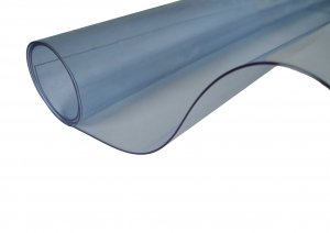 Clear PVC Fabric 0.75mm Thick Flame Retardant. Width 137cms