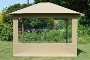 Roll Up Side Panel - Canvas Window 3m (W) x 2m (H)