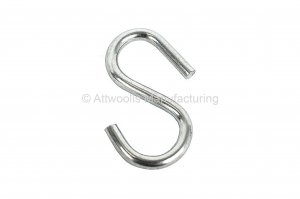 S Hook 38mm x 4mm DIA